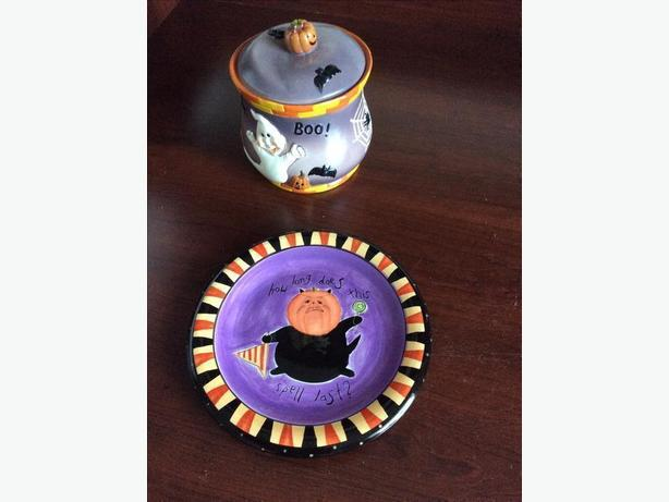 Halloween plate and candy dish