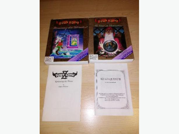 Vintage PC 1980's King's Quest II & III Boxes & Manuals Only