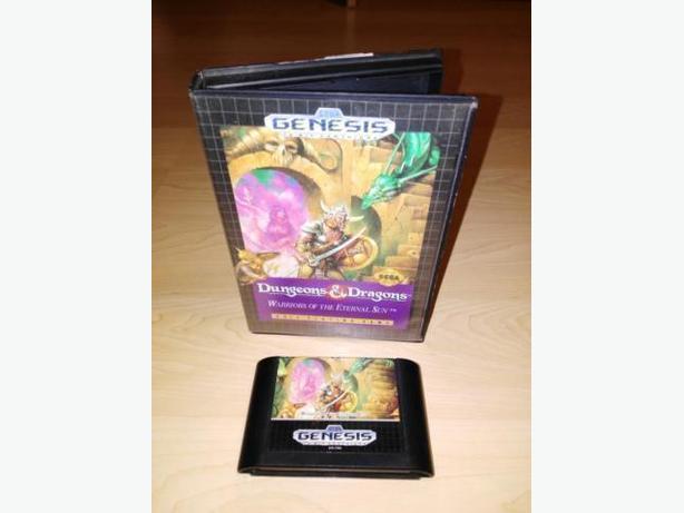 AD&D Warriors Of The Eternal Sun For The Sega Genesis