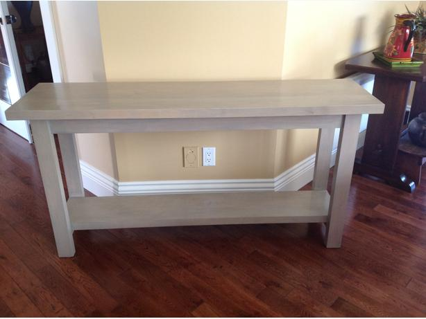 Solid Maple Sofa Back - Hall Table