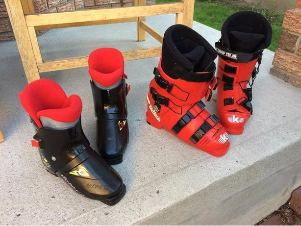 2 Pairs of Ski Boots: Child & Adult