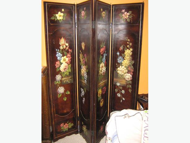 Wooden Room Divider and Trunk