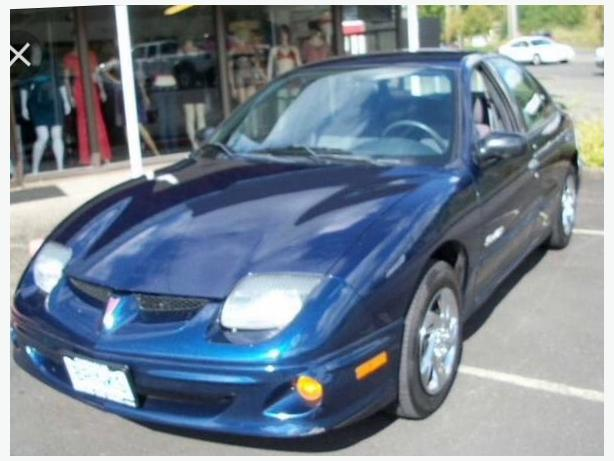 2002 blue pontiac sunfire