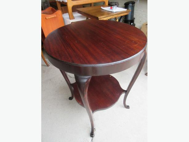 ESTATE ROUND MAHOGANY SIDE TABLE