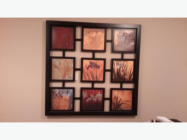 Beautiful, Large Framed Wall Decor