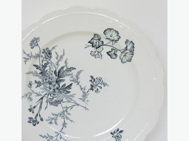Antique 1880-1891 Floral Transferware Plate - England