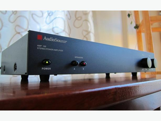 FAMOUS AUDIOSOURCE AMP 100 STEREO AMPLIFIER POWER AMP