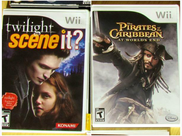 2 Wii Games - Pirates of the Caribbean & Twilight Scene It
