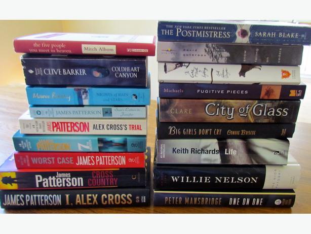21 Books - Novels, Biographies.... $20/lot