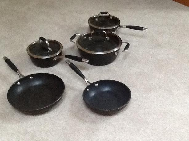 5 piece BLACK  LAGOSTINA COOKING SET