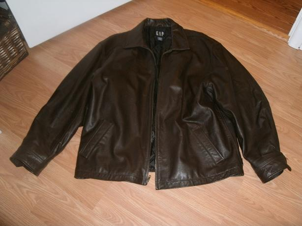 Mens Gap brown leather jacket