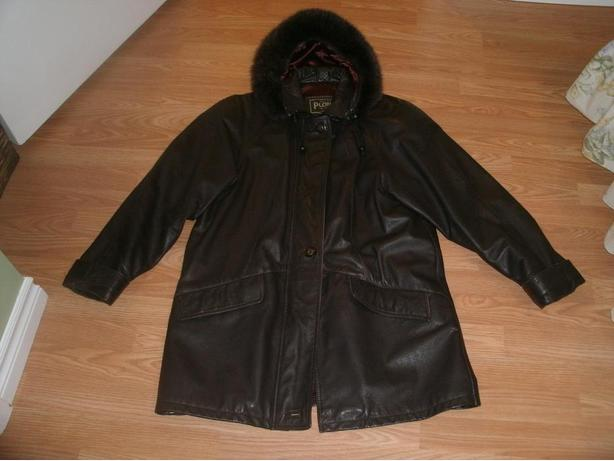 ladies 3/4 length leather jacket