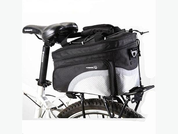 Bicycle Bike Rear Rack Double Pannier Bag - Black