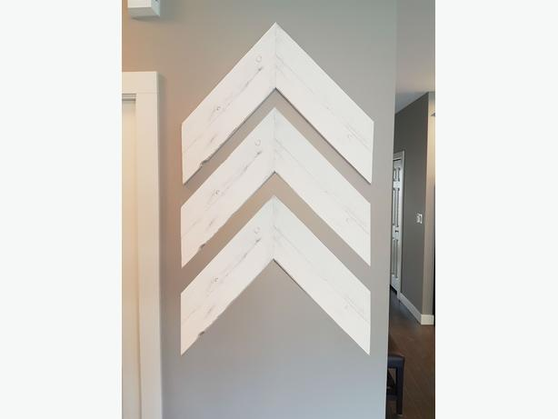 Custom Made Large Distressed White Chevron Arrows (3 pack)