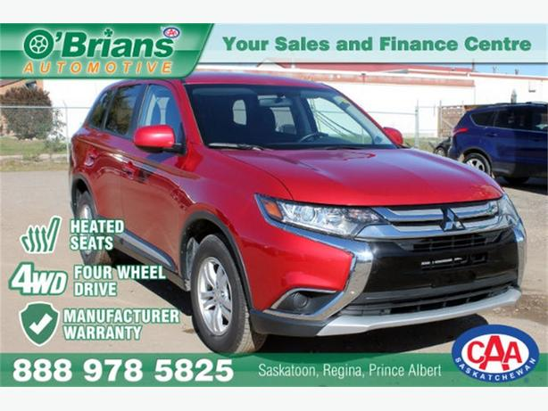 2016 Mitsubishi Outlander ES - 4WD HEATED SEATS MFG WARRANTY!