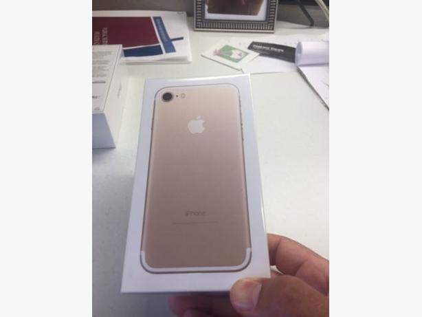 BNIB iphone 7 gold 128gb