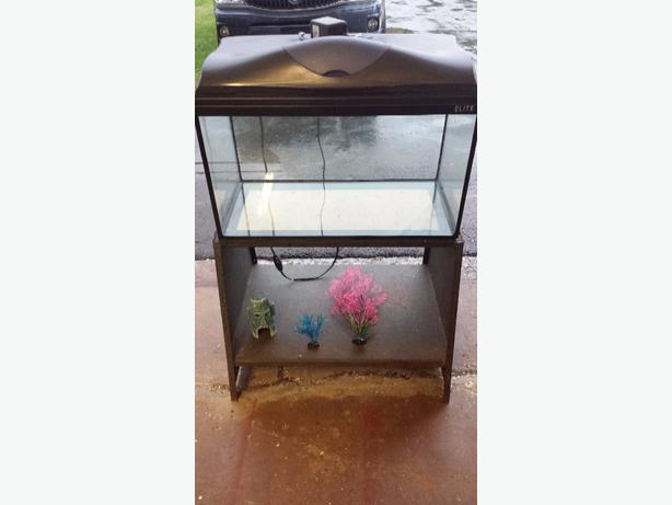 15 Gallon Aquarium and Stand