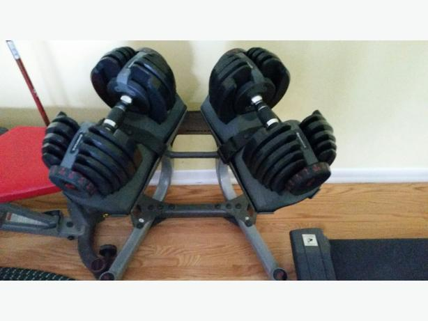 Bowflex Select 552weight set and stand