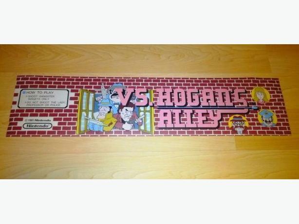 Retro Original Nintendo Hogan's Alley Arcade Marquee!