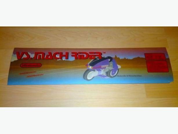 Cool Looking Original Nintendo Mach Rider Arcade Marquee