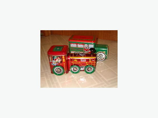 Christmas train and truck gift boxes by holiday joy