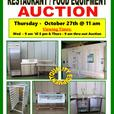 RESTAURANT EQUIPMENT AUCTION - THURSDAY- OCT 27th @ 11 am - LOVE'S AUCTIONS