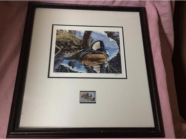 Ducks unlimited stamp and picture
