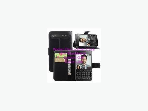 Flip Wallet Folio Stand Leather Case for Blackberry Classic Q20