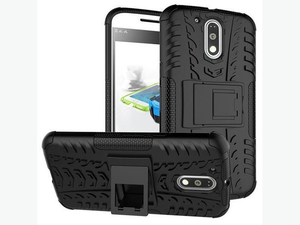 New Heavy Duty Hybrid Armor Rugged Hard Case Stand for Moto G4 Plus