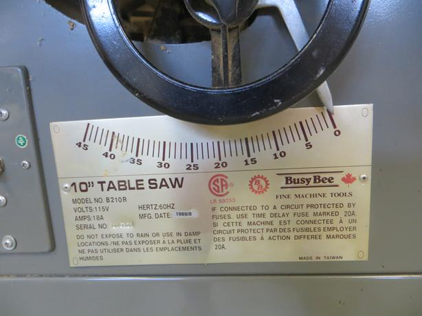 "10"" Table Saw Contractor Grade"