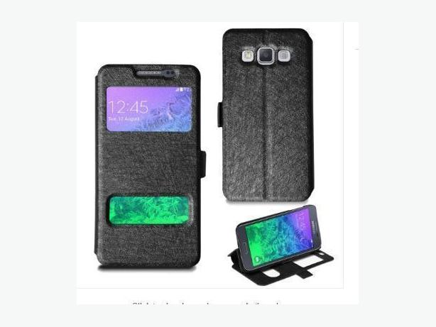 Dual Window View Sliding Flip Full Cover Case for Samsung Note 2