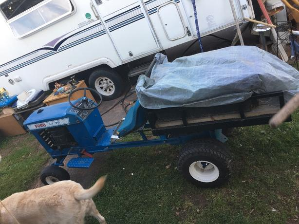 ford lt 75 modified lawnmower with dump