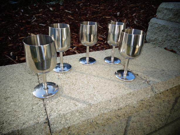 Stainless Wine Glassed
