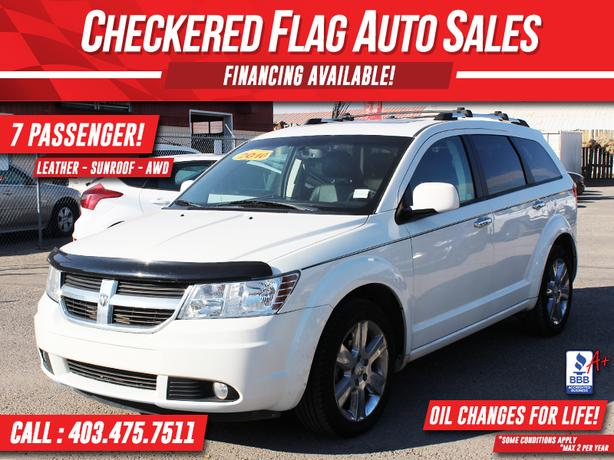 2010 DODGE JOURNEY R/T AWD-7 PASSENGER-LEATHER-SUNROOF-LOW KM