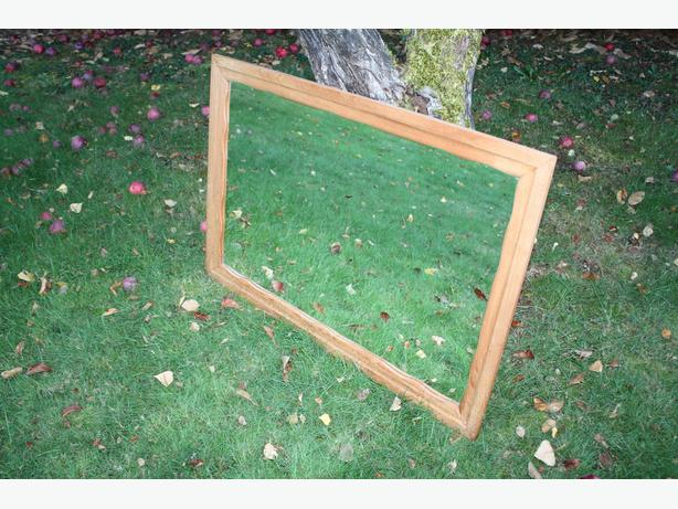 LARGE SOLID WOODEN MIRROR $30