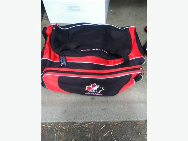 Hockey Bag with goalie gear