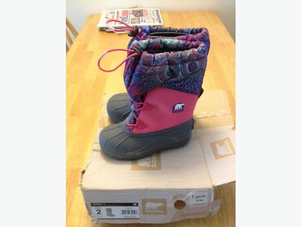 NEW unworn winter boots by SOREL size 2