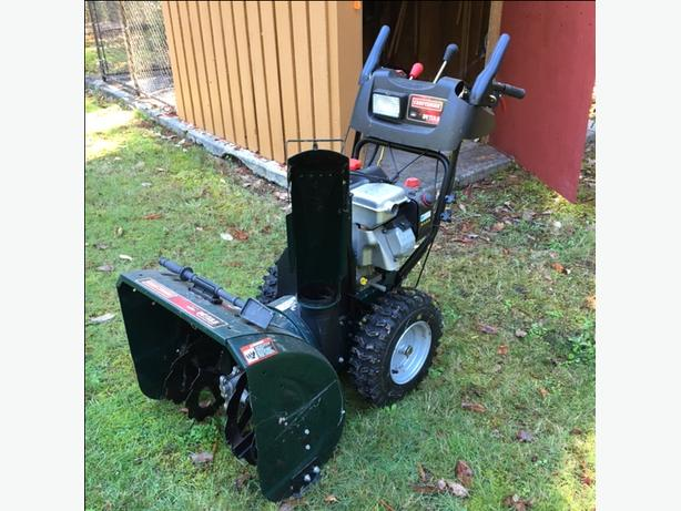 Craftsman 1350 series  snow blower - new condition.