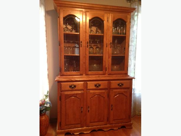 Dining Set and Buffet Hutch