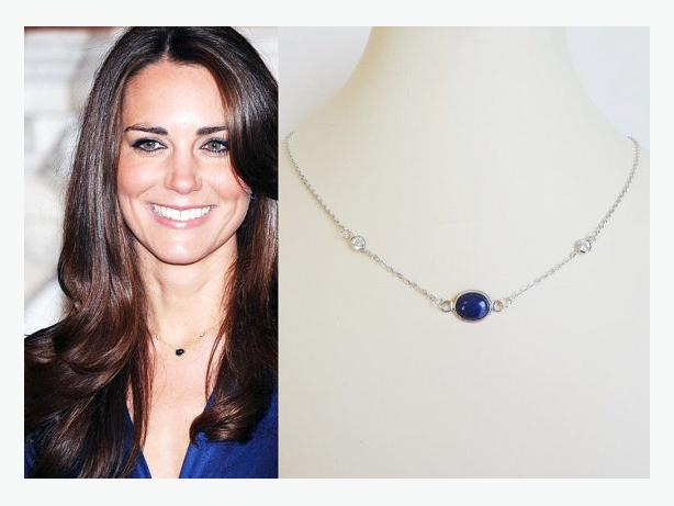 "Kate Middleton Inspired ""Lapis"" Necklace"