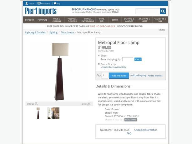 Peir 1 FLOOR LAMP