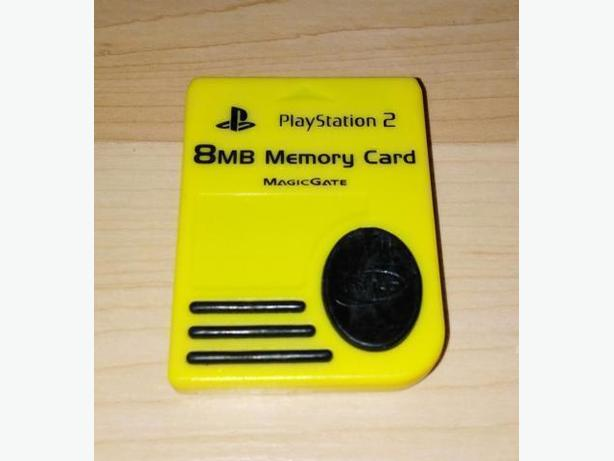 Yellow Playstation 2 Nyko Memory Card