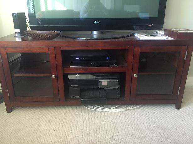 cherry entertainment cabinet