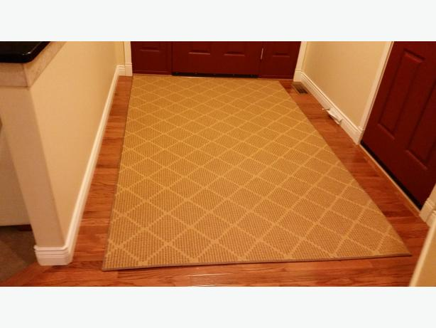 Gold Jute Backed Area Rug