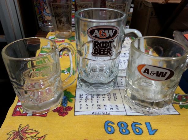 Vintage A&W glasses