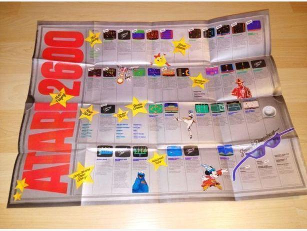 "Atari Stars Promotional Poster - Atari 2600 - 17""x22"""
