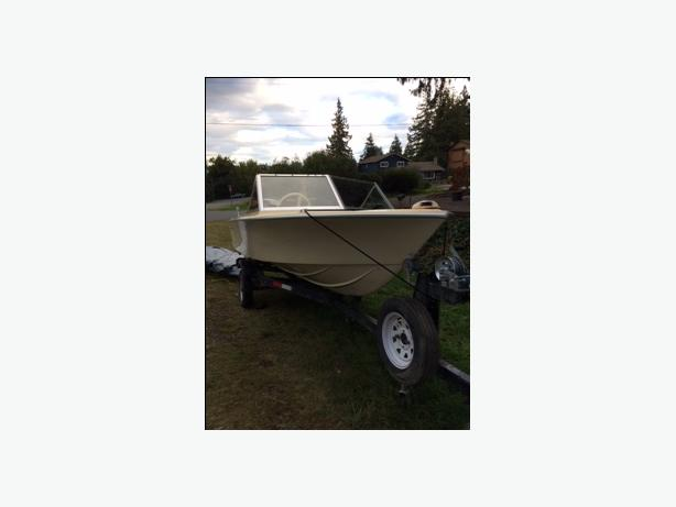1972 16 foot Sangster 50 HP 4 stroke Mercury- Open to any offers.