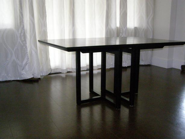 Black IKEA dining room table
