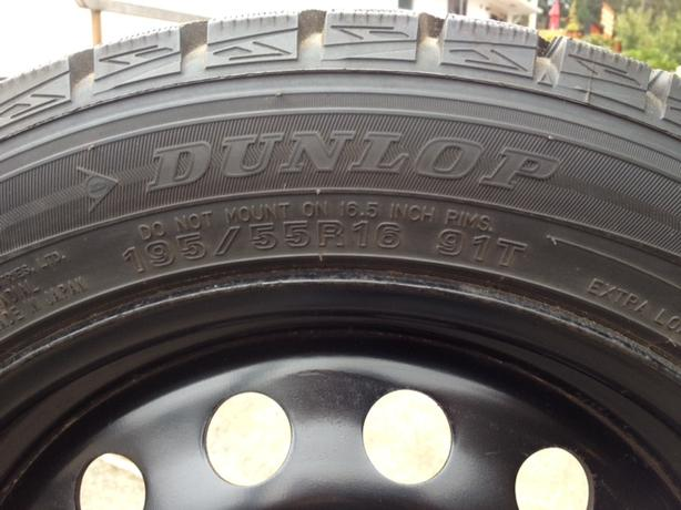 Dunlop Winter Maxx 195/55R16 Snow Tires