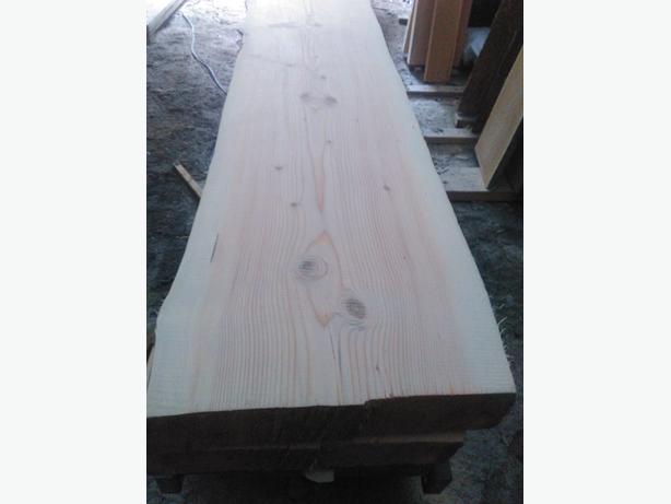 """4"""" thick fir live edge slab"""